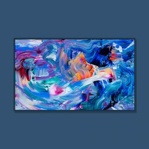 Tran Tuan Abstract Melody of Light 2021 135 x 80 x 5 cm Acrylic on Canvas Painting