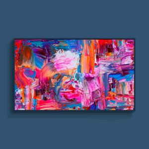 Tran Tuan Abstract Sunlight on the Old Street 2021 135 x 80 x 5 cm Acrylic on Canvas Painting
