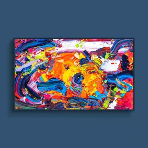 Tran Tuan Abstract Bright Sunshine 2021 135 x 80 x 5 cm Acrylic on Canvas