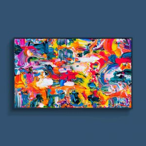 Tran Tuan Abstract Dance of Children 2021 135 x 80 x 5 cm Acrylic on Canvas Painting