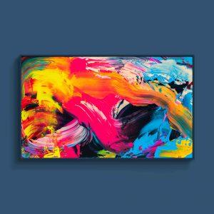 Tran Tuan Abstract Eternal Rhythm 2021 135 x 80 x 5 cm Acrylic on Canvas Painting