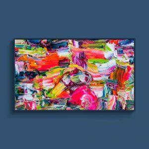 Tran Tuan Abstract Improvisational Melody 2021 135 x 80 x 5 cm Acrylic on Canvas Painting