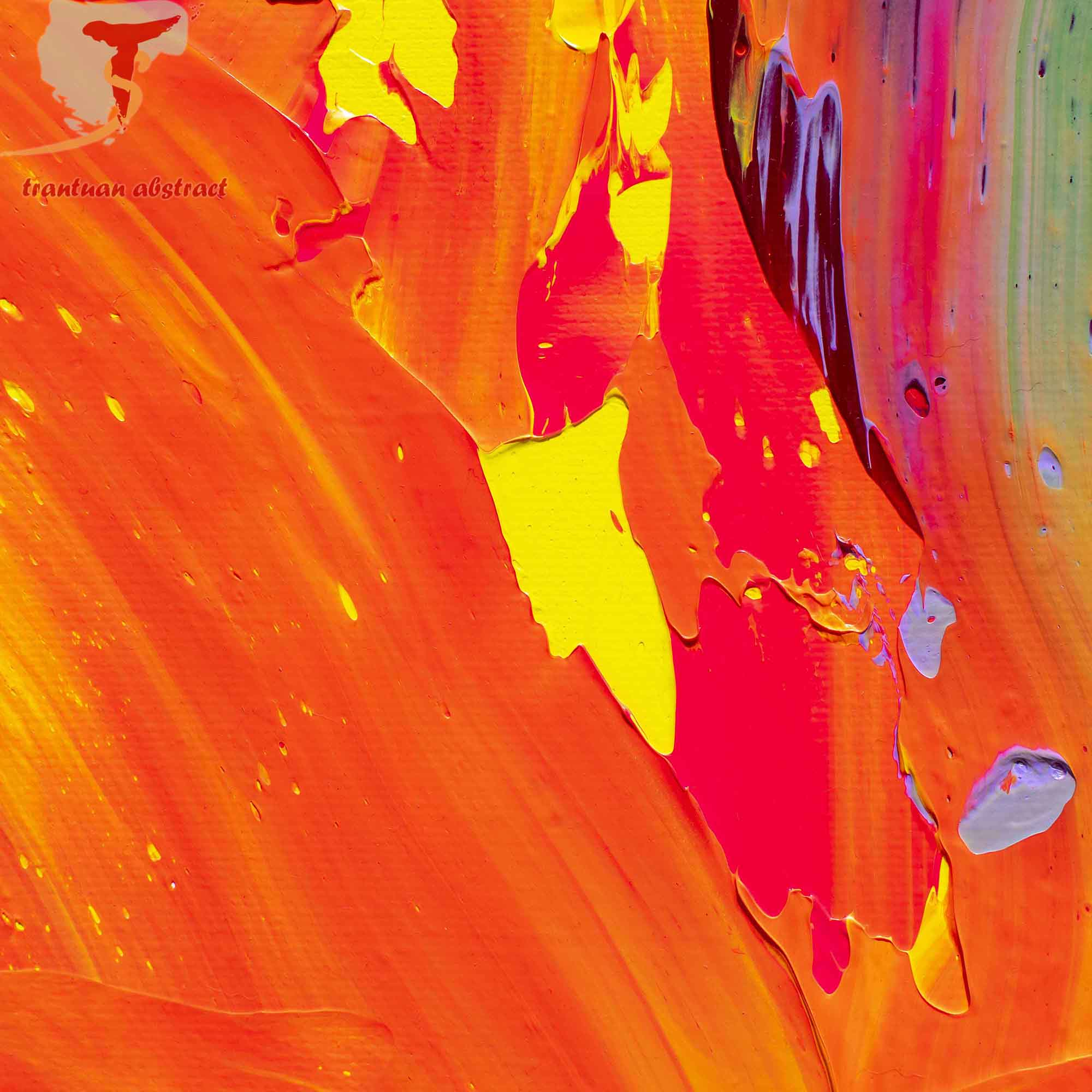 Tran Tuan Abstract Warm Wind 2021 135 x 80 x 5 cm Acrylic on Canvas Painting Detail s (20)