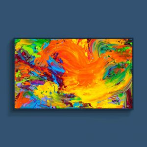 Tran Tuan Abstract Warm Wind 2021 135 x 80 x 5 cm Acrylic on Canvas Painting