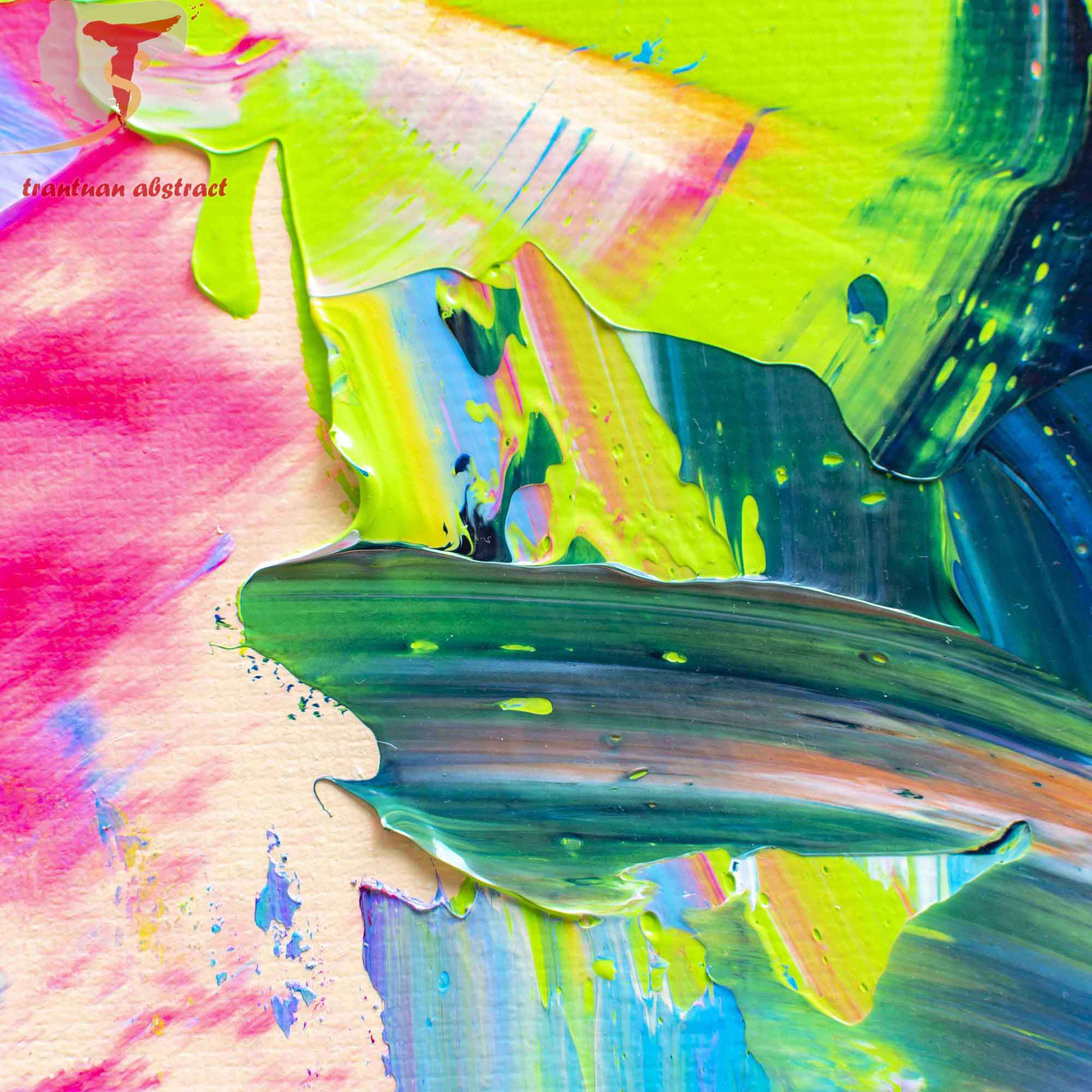 Tran Tuan Artist Coastal City at Night 2021 135 x 80 x 5 cm Acrylic on Canvas Painting Detail s (22)