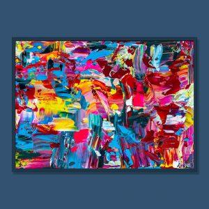 Tran Tuan Abstract Evening Garden 2021 95 x 68 x 5 cm Acrylic on Canvas Painting