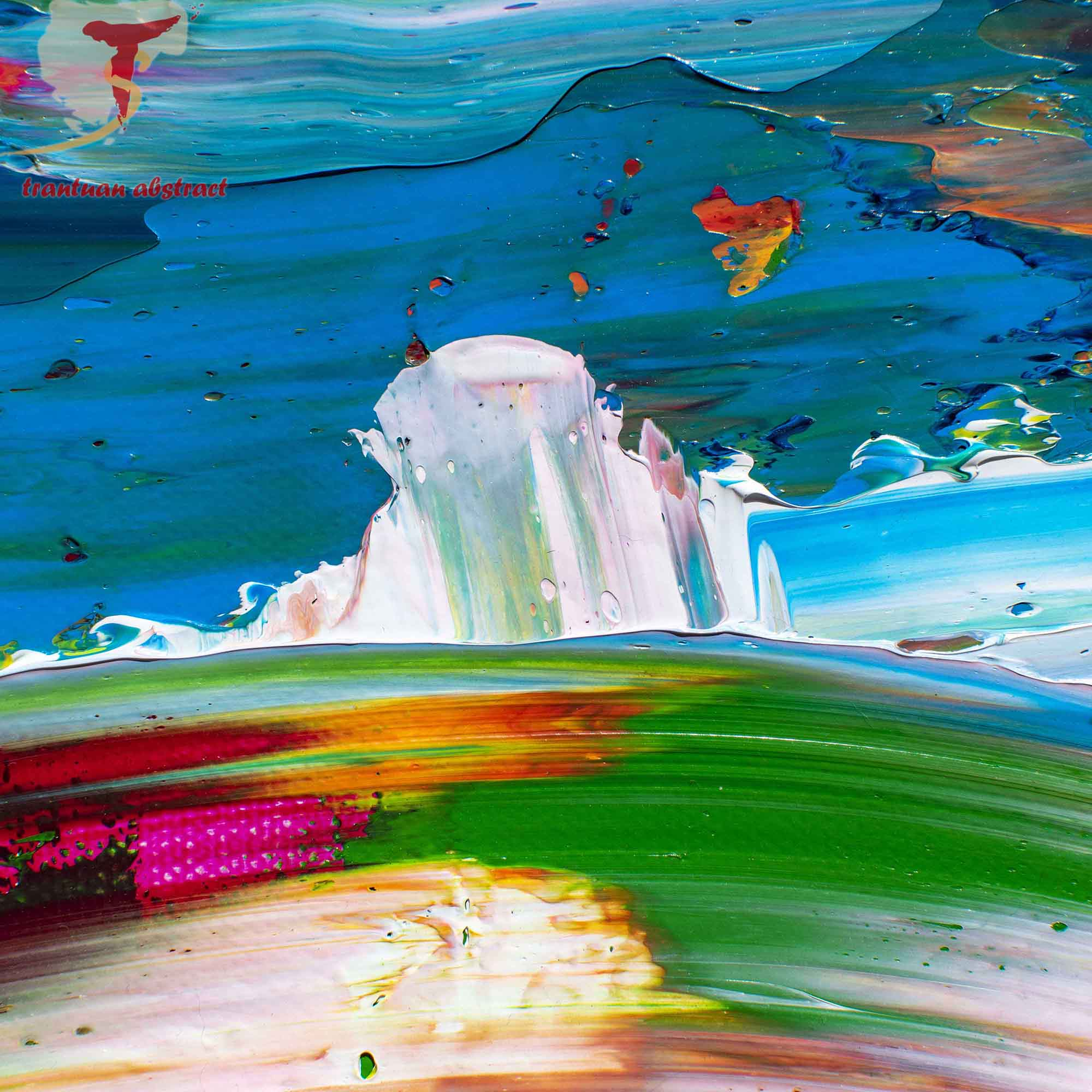Tran Tuan Abstract Full of Life 2021 120 x 100 x 3 cm Acrylic on Canvas Painting Detail s (25)
