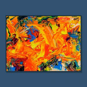 Tran Tuan Abstract Overflowing Warmth 2021 135 x 100 x 5 cm Acrylic on Canvas Painting