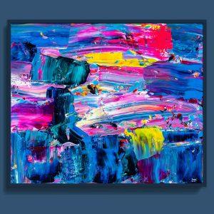 Tran Tuan Abstract Sleepwalking 120 x 100 x 3 cm Acrylic on Canvas Painting