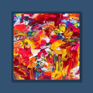 Tran Tuan Abstract Wild Area 2021 100 x 100 x 3 cm Acrylic on Canvas Painting