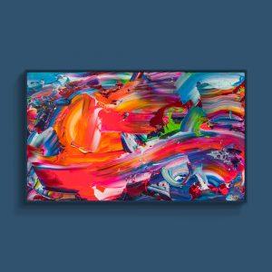 Tran Tuan Abstract The Awakening 2021 80 x 135 x 5 cm Acrylic on Canvas Painting