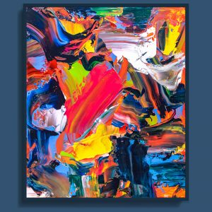 Tran Tuan Abstract Resounding 2021 120 x 100 x 5 cm Acrylic on Canvas Painting