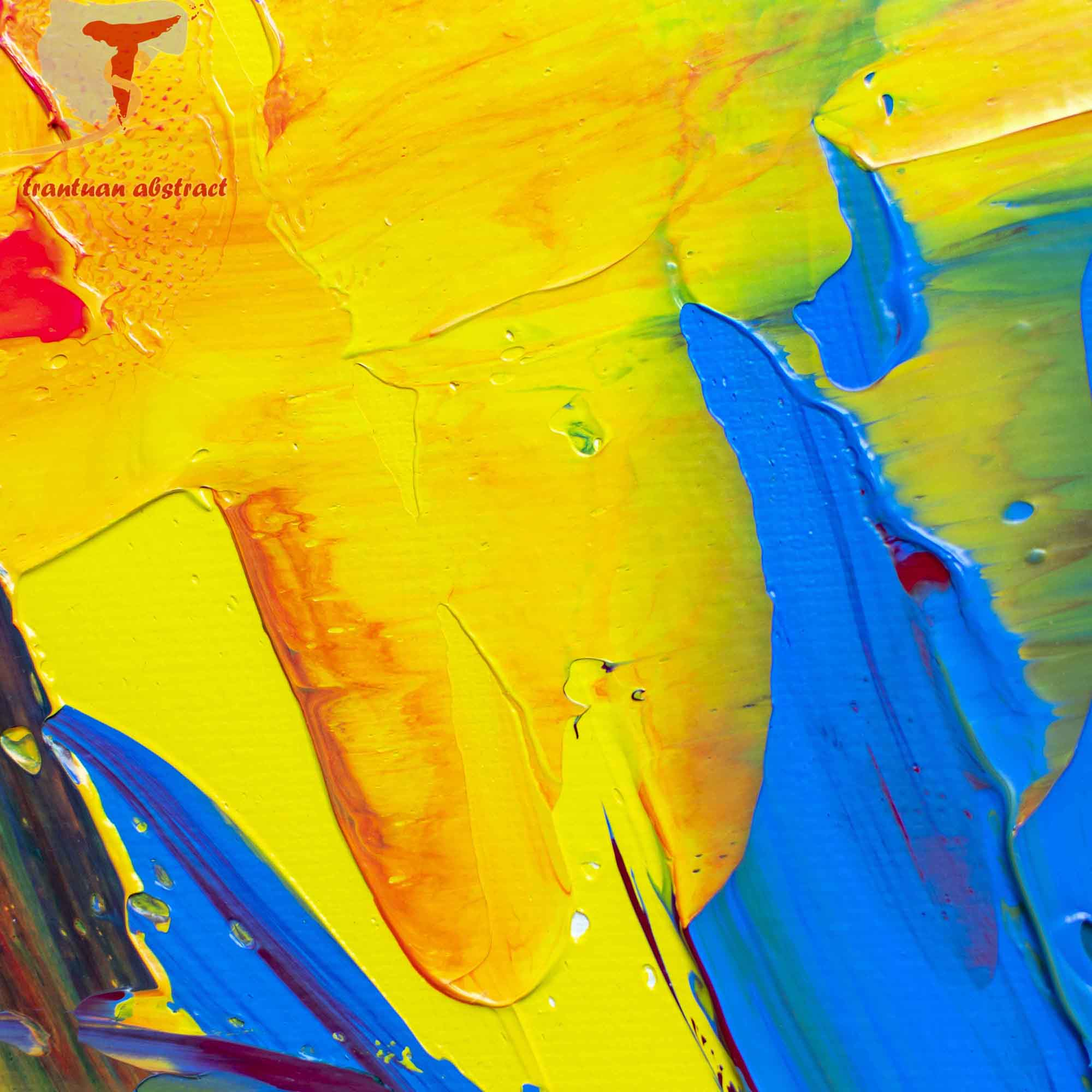Tran Tuan Abstract Sweet Sunshine 2021 120 x 100 x 5 cm Acrylic on Canvas Painting Detail s (27)