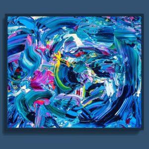 Tran Tuan Artist Agleam Florescence 120 x 100 x 5 cm Acrylic on Canvas Painting